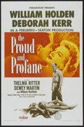 """Movie Posters:War, The Proud and Profane (Paramount, 1956). One Sheet (27"""" X 41"""").War...."""