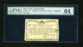 Colonial Notes:New York, New York August 2, 1775 (Water Works) 2s PMG Choice Uncirculated 64....