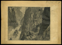 "King Kong (RKO, 1933). Production Drawing by Mario Larrinaga (5"" X 6.75""). Horror.... (Total: 3 Items)"