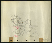 """Pinocchio (RKO, 1940). Preliminary Animation Cell Drawing (10"""" X 12""""). Animated"""
