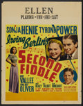 """Movie Posters:Musical, Second Fiddle (20th Century Fox, 1939). Jumbo Window Card (22"""" X 28""""). Musical...."""