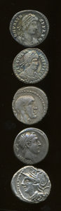 Ancients:Ancient Lots  , Ancients: Lot of five Roman Republican and Imperial AR.... (Total: 5 coins)