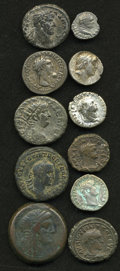 Ancients:Ancient Lots  , Ancients: Lot of eleven Greek and Roman Provincial AR, BI and AE.... (Total: 11 coins)