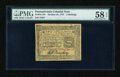 Colonial Notes:Pennsylvania, Pennsylvania October 25, 1775 2s PMG Choice About Unc 58 EPQ....