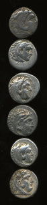Ancients:Ancient Lots  , Ancients: Lot of six Greek AR drachms.... (Total: 6 coins)