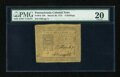 Colonial Notes:Pennsylvania, Pennsylvania March 20, 1773 4s PMG Very Fine 20....