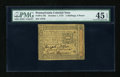 Colonial Notes:Pennsylvania, Pennsylvania October 1, 1773 2s/6d PMG Choice Extremely Fine 45EPQ....