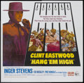 "Movie Posters:Western, Hang 'Em High (United Artists, 1968). Six Sheet (81"" X 81""). Western...."