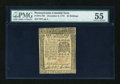 Colonial Notes:Pennsylvania, Pennsylvania December 8, 1775 40s PMG About Uncirculated 55....