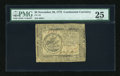 Colonial Notes:Continental Congress Issues, Continental Currency November 29, 1775 $5 PMG Very Fine 25 EPQ....