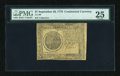 Colonial Notes:Continental Congress Issues, Continental Currency September 26, 1778 $7 PMG Very Fine 25....