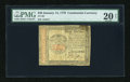 Colonial Notes:Continental Congress Issues, Continental Currency January 14, 1779 $40 PMG Net Very Fine 20....
