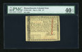 Colonial Notes:Massachusetts, Massachusetts May 5, 1780 $7 Uncancelled PMG Extremely Fine 40 EPQ....