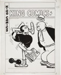 Original Comic Art:Covers, Joe Musial King Comics #127 Popeye Cover Original Art (DavidMcKay, 1946).... (Total: 2 Items)