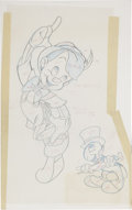 Original Comic Art:Miscellaneous, Pinocchio Puzzle Preliminary Sketch with Color Guide Original Art(Disney/Jaymar, undated).... (Total: 2 Items)