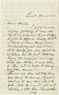 Autographs:Military Figures, Benjamin Butler Document Signed and Autographed Letter Signed.... (Total: 2 Items)