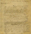 "Autographs:U.S. Presidents, George Washington Autograph Letter Signed ""Go Washington"",4pp., 8"" x 9"", Mount Vernon, July, 29, 1784. Washington writ..."