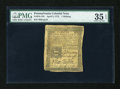 Colonial Notes:Pennsylvania, Pennsylvania April 3, 1772 1s PMG Choice Very Fine 35 EPQ....