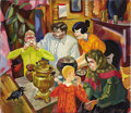 Fine Art - Painting, Russian:Contemporary (1950 to present), VICTOR ABRAMYN (Russian, 20th Century). Meal Time, 1994. Oilon canvas. 23-3/4 x 27-1/2 inches (60.3 x 69.9 cm). Signed ...