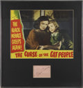Movie/TV Memorabilia:Autographs and Signed Items, Simone Simon Autograph with Signed Curse of the Cat People Lobby Card (1944)....