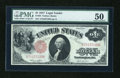 Fr. 36 $1 1917 Legal Tender PMG About Uncirculated 50