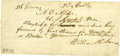 Autographs:Statesmen, John Surratt/Henride St. Marie Manuscript Telegram, written andsigned for William H. Seward in a clerical hand. One...
