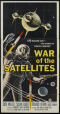 """Movie Posters:Science Fiction, War of the Satellites (Allied Artists, 1958). Three Sheet (41"""" X81""""). Science Fiction...."""