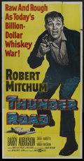 "Movie Posters:Crime, Thunder Road (United Artists, 1958). Three Sheet (41"" X 81"").Crime...."
