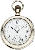 "Timepieces:Pocket (pre 1900) , Waltham with ""Sunset"" Dial, circa 1880. ..."