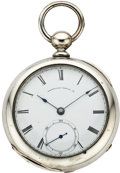 Timepieces:Pocket (pre 1900) , Waltham Early Keywind, circa 1868. ...