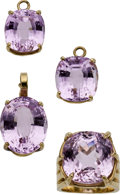 Estate Jewelry:Lots, Kunzite, Gold Jewelry Suite. ... (Total: 4 Items)