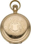 Timepieces:Pocket (pre 1900) , Illinois Bunn with D.H.Blinn Dial, circa 1894. ...