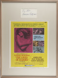 Movie/TV Memorabilia:Autographs and Signed Items, Vanessa Redgrave Autograph with The Loves of Isadora Lobby Card....