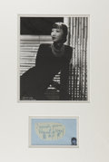 Movie/TV Memorabilia:Autographs and Signed Items, Anna May Wong Autograph With Photo....