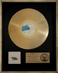 Music Memorabilia:Awards, The Beatles at the Hollywood Bowl RIAA Gold Album Award....