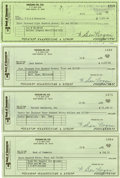 Golf Collectibles:Autographs, Ben Hogan Lot of Four Signed Checks.... (Total: 4 items)