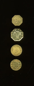 California Gold Charms, Quartet of California Gold Charms, AU58 Uncertified.... (Total: 4 pieces)