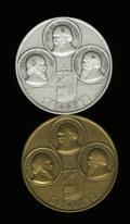 Judaica, 1986 Pair of Christopher Columbus-Sephardic Medals from MagnesMuseum.... (Total: 2 medals)