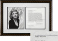 Movie/TV Memorabilia:Autographs and Signed Items, Judy Garland Signed Contract....