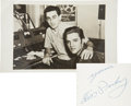 Music Memorabilia:Autographs and Signed Items, Elvis Signed Postcard...