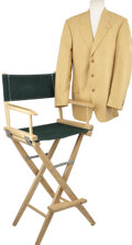 Music Memorabilia:Costumes, J. D. Sumner's Yellow Sport Coat with Director's Chair.... (Total: 2 Items)