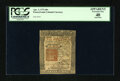 Colonial Notes:Pennsylvania, Pennsylvania April 3, 1772 40s PCGS Apparent Extremely Fine 40....