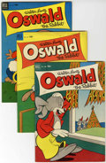 Golden Age (1938-1955):Funny Animal, Four Color - Oswald the Rabbit Group (Dell, 1952-54) Condition:Average FN-.... (Total: 4 Comic Books)