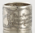 Silver Holloware, American:Napkin Rings, AN AMERICAN SILVER NAPKIN RING. R. Blackinton & Co., NorthAttleboro, Massachusetts, circa 1900. Marks: R, (B withsword...