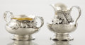 Silver Holloware, American:Creamers and Sugars, AN AMERICAN SILVER AND SILVER GILT CREAMER AND SUGAR BOWL. George W. Shiebler & Co., New York, New York, circa 1900. Marks: ... (Total: 2 Items)