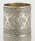 Silver Holloware, American:Napkin Rings, AN AMERICAN SILVER AND SILVER GILT NAPKIN RING . Unknown maker,circa 1900. 1-7/8 inches high x 1-3/4 inches diameter (4.8 x...