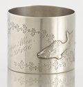 Silver Holloware, American:Napkin Rings, AN AMERICAN SILVER NAPKIN RING . Unknown maker, circa 1880. 1-1/2inches high x 175 inches diameter (3.8 x 444.5 cm). 1.46 t...