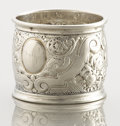 Silver Holloware, American:Napkin Rings, AN ENGLISH SILVER NAPKIN RING . Unidentified maker, 1900. Marks: (lion passant), (leopard head), GJ (over) D, d. 1-5/8 i...