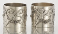 Silver Holloware, Continental:Holloware, PAIR OF GERMAN SILVER NAPKIN RINGS . Maker unidentified, circa1890. Marks: 800. 1-3/4 high x 2 inches diameter (4.4 x 5...(Total: 2 Items)