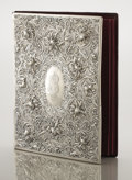 Silver Holloware, American:Desk Accessories, AN AMERICAN SILVER COVERED PORTFOLIO. Gorham Manufacturing Co.,Providence, Rhode Island, circa 1890. Marks: (lion-anchor-G)...
